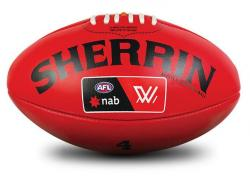 Sherrin Womans Replica AFL Training Ball Red [Size: 4]