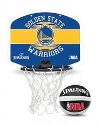Spalding NBA Mini Backboard Golden State Warriors Set
