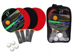 ALLIANCE 4 PLAYER BAT AND BALL TABLE TENNIS SET