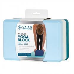 Gaiam Performance Tri Colour Yoga Block