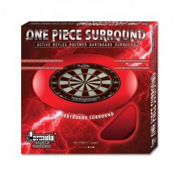 Formula One Piece Dartboard Surround Red