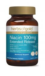 Herbs of Gold Niacin 100mg Extended Release