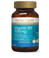 Herbs of Gold Vitamin B1 100mg