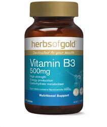 Herbs of Gold Vitamin B3 500mg