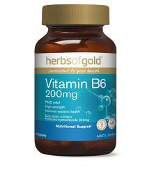 Herbs of Gold Vitamin B6 200mg