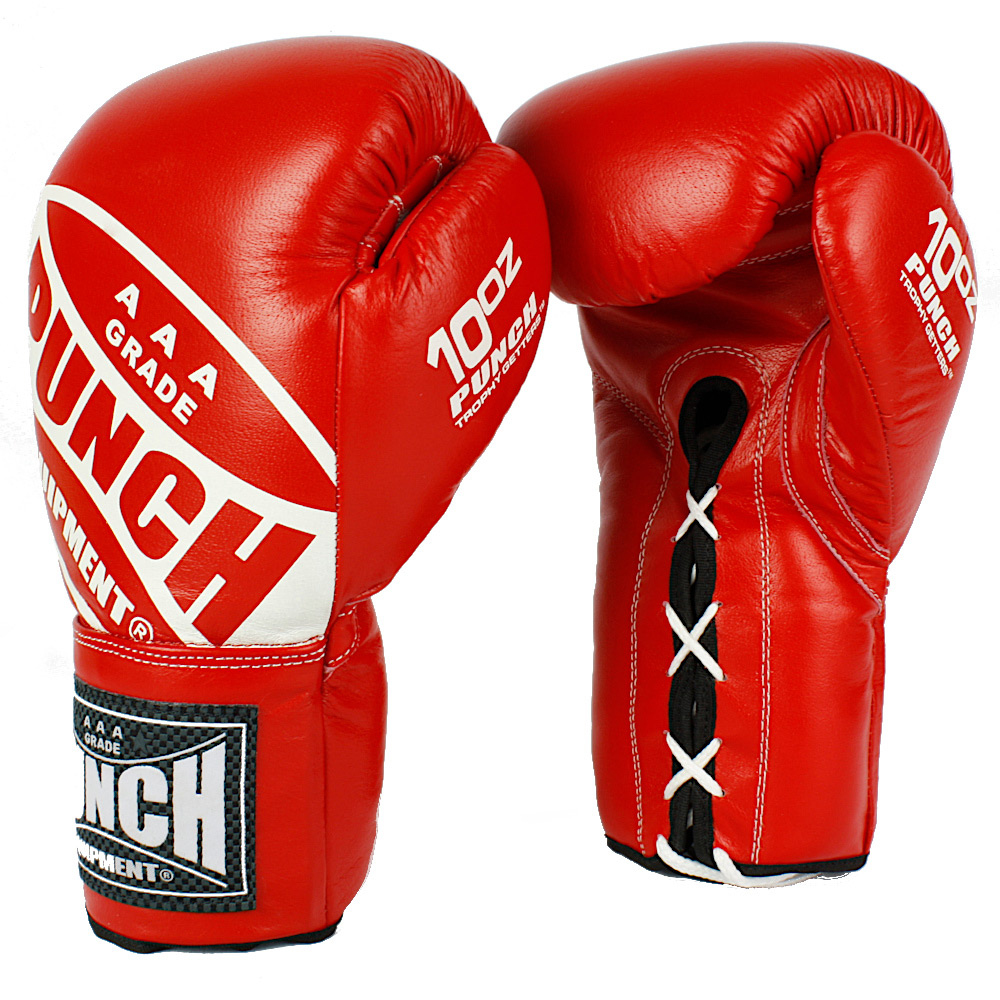 Punch Boxing Gloves Competition Lace Ups