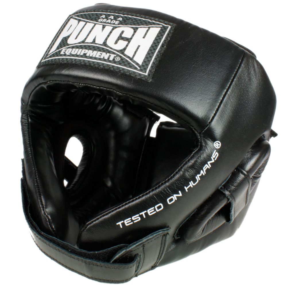 Punch Open Face Leather Head Gear