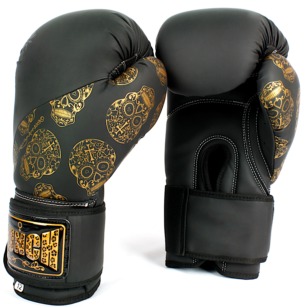 Punch Urban Ladies Boxing Gloves Gold Skulls