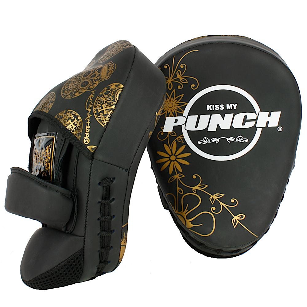 Punch Urban Ladies Focus Pads Gold Skull