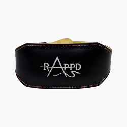 Rappd Leather Weight Lifting Belt 6 Inch