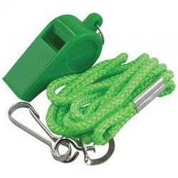 Madison Plastic Whistle with lanyard