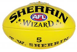Sherrin Wizard Leather Aussie Rules Football