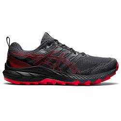 Asics Gel Trabuco 9   Mens   Carrier Grey Electric Red